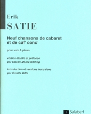 Erik Satie: Neuf chansons de cabaret por voix & piano