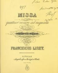 Liszt Ferenc: Szekszárdi mise - zongorakivonat (reprint)