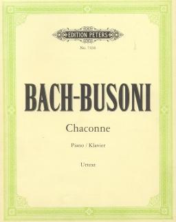Bach-Busoni: Chaconne zongorára (Urtext)