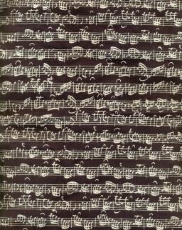 Fekete, hangjegyes, hosszúfülű pamut táska