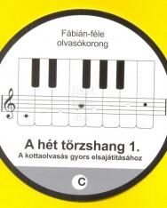 Fábián: Olvasókorong - a hét törzshang 1. (violinkulcs)