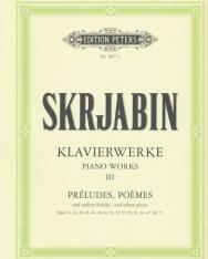 Alexander Scriabin: Klavierwerke 3. - Préludes, Poémes (Urtext)