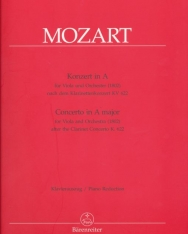 Wolfgang Amadeus Mozart: Concerto in A major for Viola and Orchestra (1802) after the Clarinet Concerto K. 622