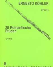 Ernesto Köhler: 25 romantische Etüden op. 66.