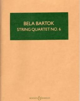 Bartók Béla: String Quartet No. 6 kispartitúra