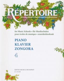 Répertoire zongorára 4.