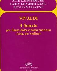Antonio Vivaldi: 4 Sonate furulyára, zongorakísérettel