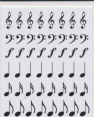 Matrica - zenei írásjelek