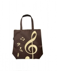 Táska - barna színű, violinkulcsos