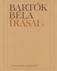 Bartók Béla írásai 3.