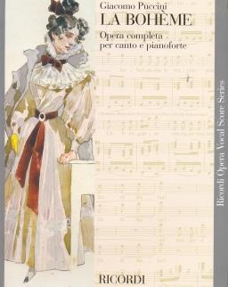 Giacomo Puccini: La Bohéme - zongorakivonat (angol, olasz)