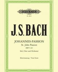 Johann Sebastian Bach: Johannes - Passion - zongorakivonat
