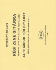 Brodszky Ferenc: Régi zene gitárra