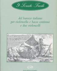 9 Sonate Facili del barocco italiano - csellóra és basso continuóra vagy két csellóra