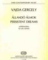 Vajda Gergely: Állandó álmok - szóló klarinétra