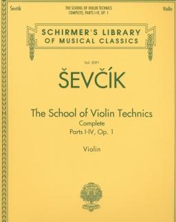 Sevcik: School of Violin Technics - Complete Parts, I-IV. Op.1