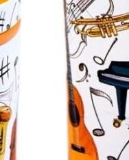 Fűszertartó - színes hangszeres (10*4 cm)