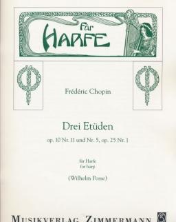 Frédéric Chopin: Drei Etüden - hárfára