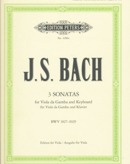 Johann Sebastian Bach: 3 Sonatas for Viola da gamba and Piano (brácsa)