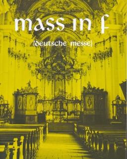 Franz Schubert: Mass in f (Deutsche Messe) zongorakivonat