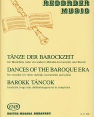 Barokk táncok furulyára (vagy más dallamhangszerre) és zongorára