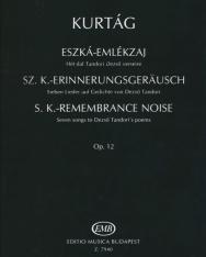 Kurtág György: Eszká-emlékzaj - Hét dal Tandori Dezső verseire