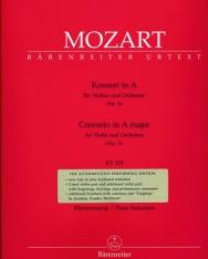 Wolfgang Amadeus Mozart: Concerto for Violin K. 219 (Urtext)