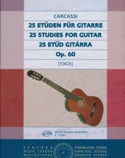 Matteo Carcassi: 25 etűd gitárra Op.60