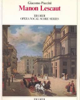 Giacomo Puccini: Manon Lescaut - zongorakivonat (olasz, angol)
