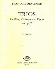Devienne: Trios (fuvola, klarinét, fagott)
