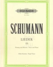 Robert Schumann: Lieder III. (hohe)