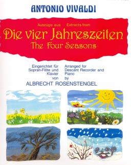 Antonio Vivaldi: Quattro stagioni - furulyára, zongorakísérettel