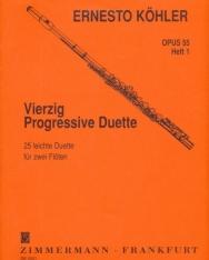 Ernesto Köhler: Vierzig Progressive Duette op. 55 / 1. (25 könnyű duett 2 fuvolára)