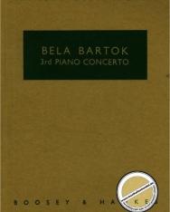 Bartók Béla: Concerto for Piano No. 3. kispartitúra