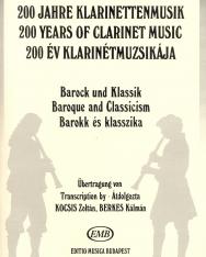 200 év klarinétmuzsikája - Barokk és klasszika