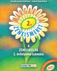 Margaréta Zeneismeret tankönyv 2.  - A zeneiskolák 2. évfolyama számára (2021, QR kóddal, új rajzokkal)