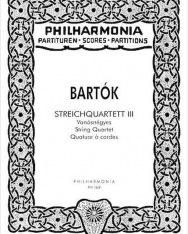 Bartók Béla: String Quartet No. 3 kispartitúra