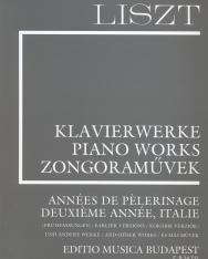 Liszt Ferenc: Années de pélerinagre, Italie  (Supplement 13.) fűzve