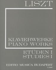 Liszt Ferenc: Etűdök 1. (fűzött)