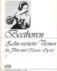 Beethoven: Tíz variált téma fuvolára 1.