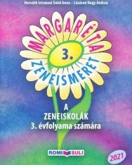 Margaréta Zeneismeret tankönyv 3. - A zeneiskolák 3. évfolyama számára (2021, QR kóddal)
