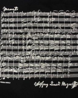 Póló - Mozart fekete S