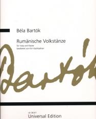 Bartók Béla: Rumänische Volktänze/Román népi táncok - brácsára, zongorakísérettel