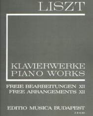 Liszt Ferenc: Freie Bearbeitungen 12. (fűzött)