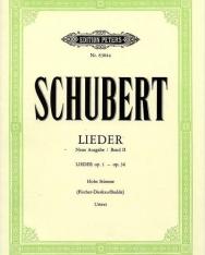 Franz Schubert: Lieder II. hohe (neue Ausgabe)