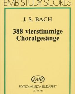 Johann Sebastian Bach: 388 négyszólamú korál - kispartitúra