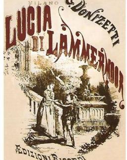 Képeslap - Donizetti: Lucia di Lammermoor