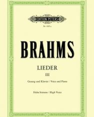 Johannes Brahms: Lieder III. hohe