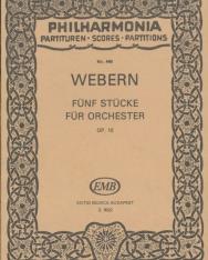 Anton Webern: Fünf stücke - kispartitúra