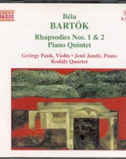 Bartók Béla: Rhapsody No. 1,2 / Andante/ Piano Quintet